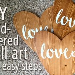 DIY Hand-lettered Wooden Hearts or Wall Art